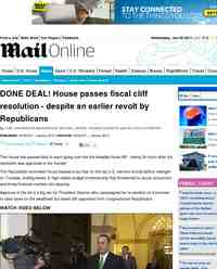 Fiscal cliff House passes fiscal cliff resolution despite: MailOnline